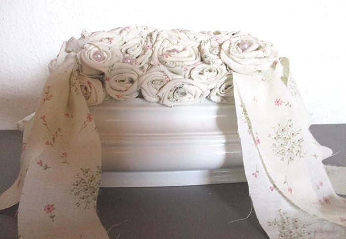 Shabby-Chic Dekoration, Landhaus, weiß, rosa, Dekorative Terrine ...