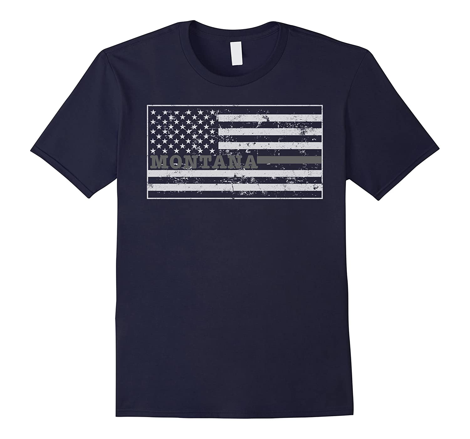 Montana Correctional Officer Shirt Thin Silver Line-TH