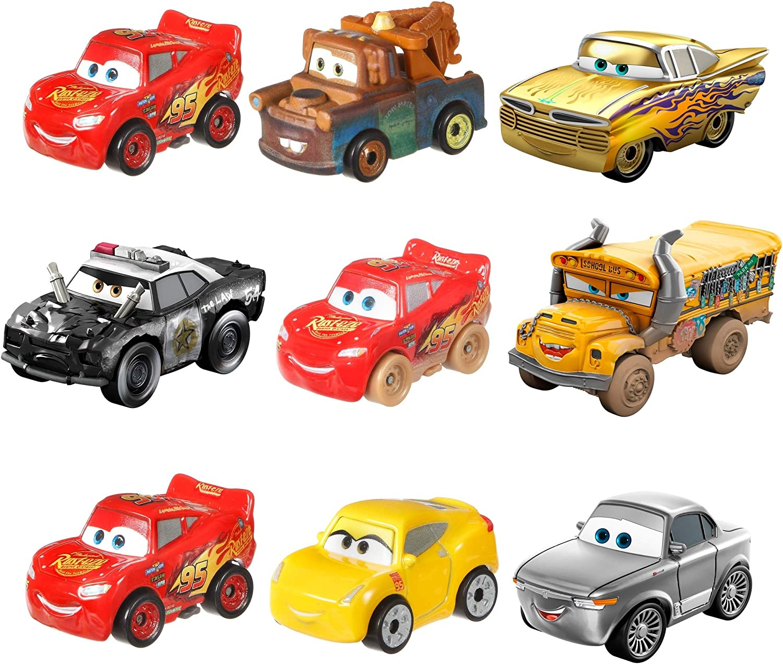 Cars GKG01 Mini Racer 3 (estilo enviado al azar), Multicolor, modelos surtidos