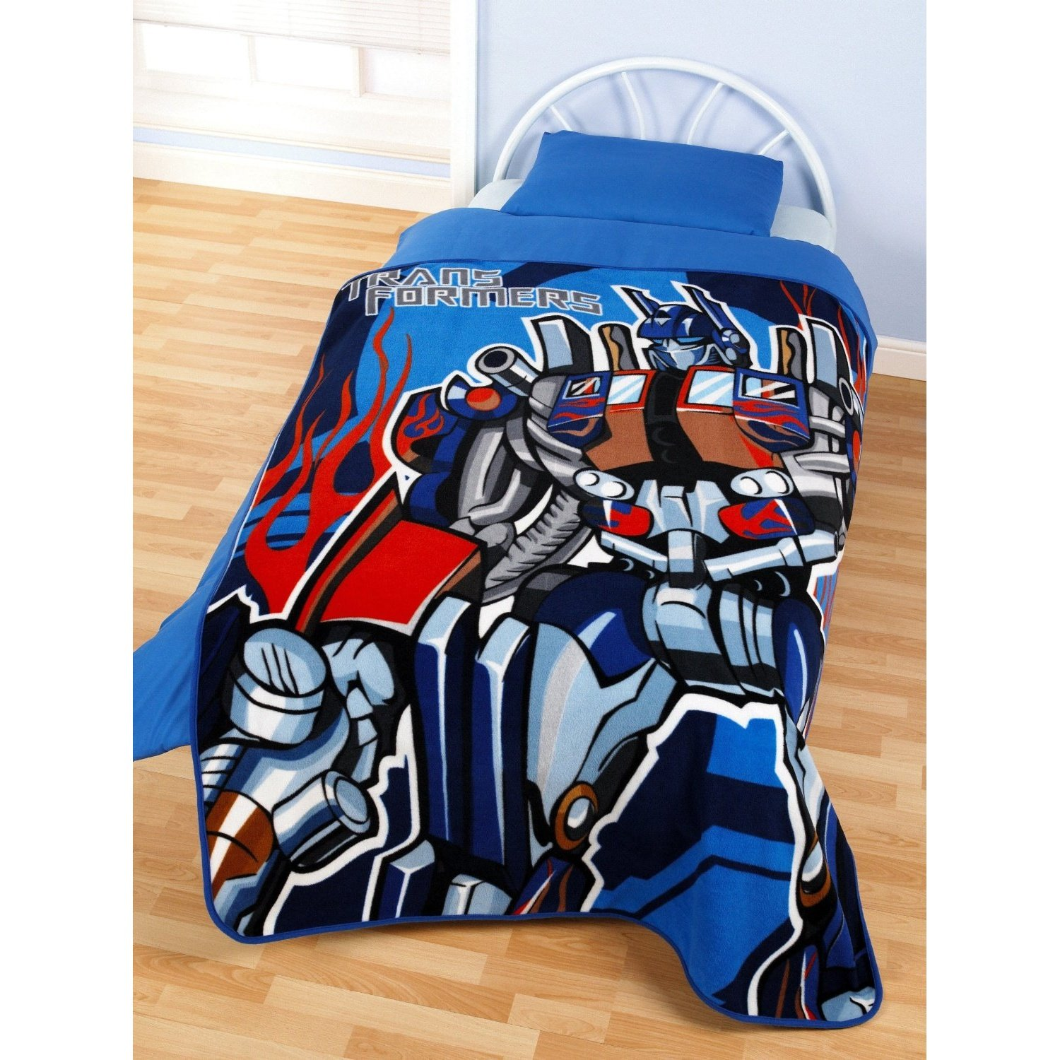 Children's Fleece Blanket in Transformers Design, blue, 125 x 150 cm Universaltextilien UTMS471_1