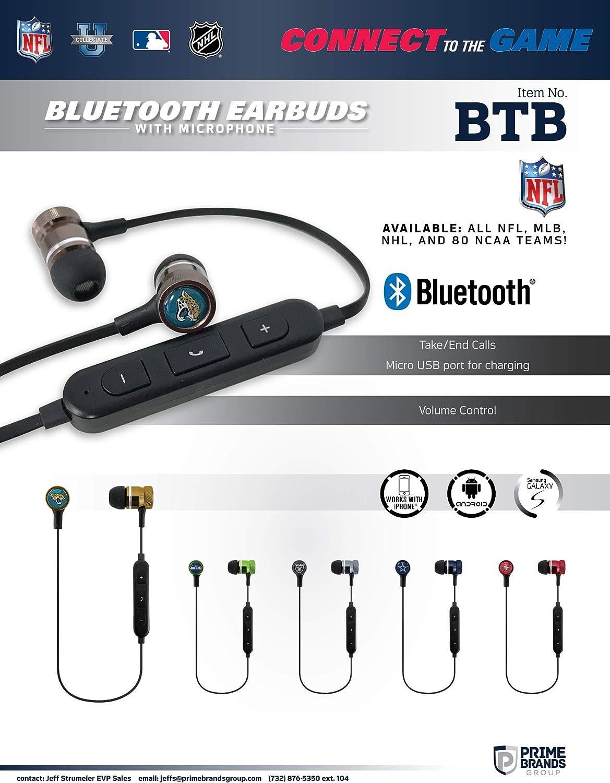 SUCKERZ NFL Bluetooth Earbuds Wireless Headphones with Mic