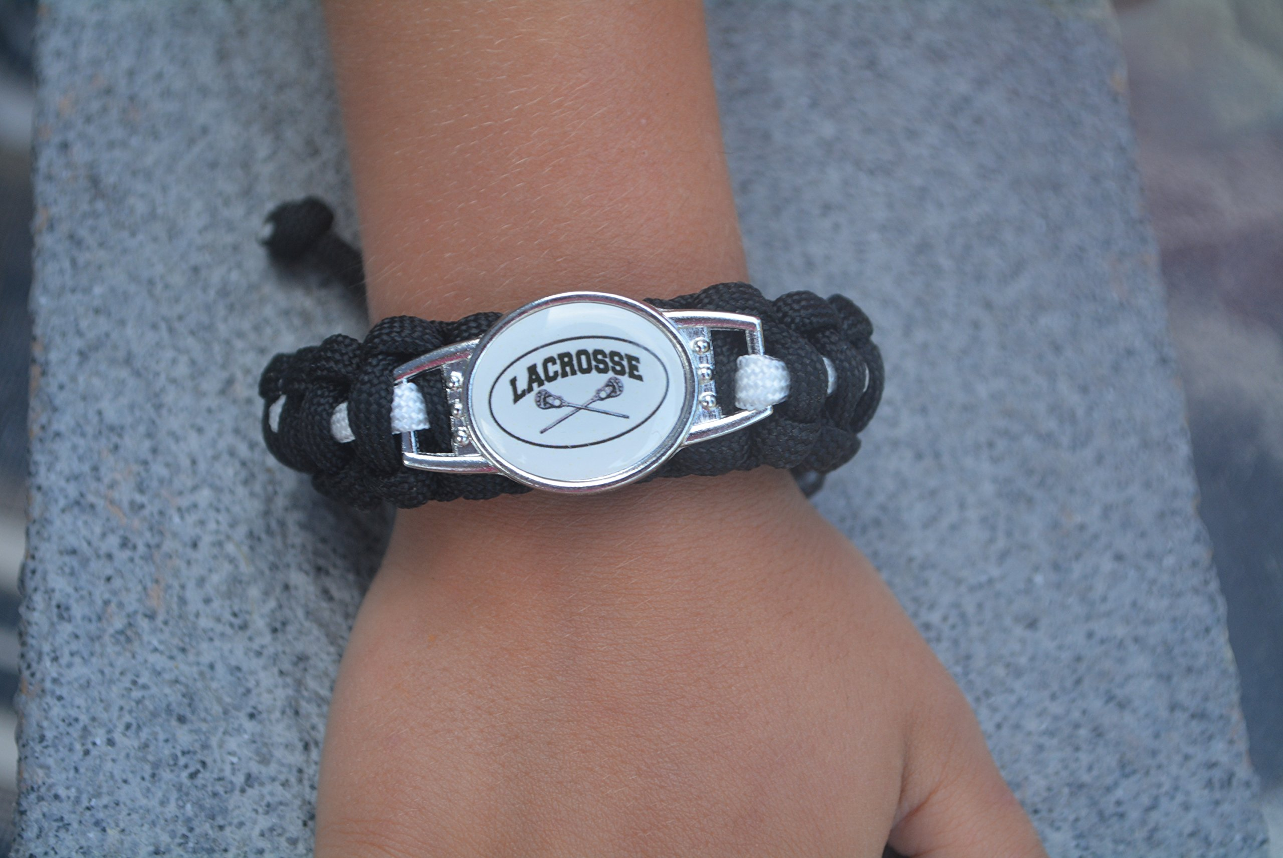 Infinity Collection Lacrosse Paracord Bracelet, Boy and Girls Lacrosse Jewelry For Lacrosse Players by Infinity Collection (Image #3)
