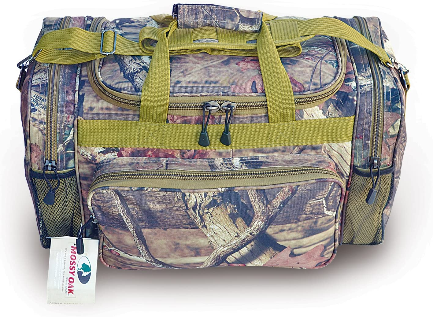 Explorer Mossy Oak -Realtree Like- Hunting Camo Heavy Duty Duffel Bag – Luggage Travel Gear Bag- Removable Shoulder Strap
