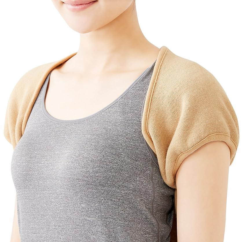 ユーザー家具耐えられる肩冷え防止 に ThankSmile カシミヤウール混 肩あて 両肩用サポーター 肩当て 五十肩 冷え性肩 肩保温 説明書付き