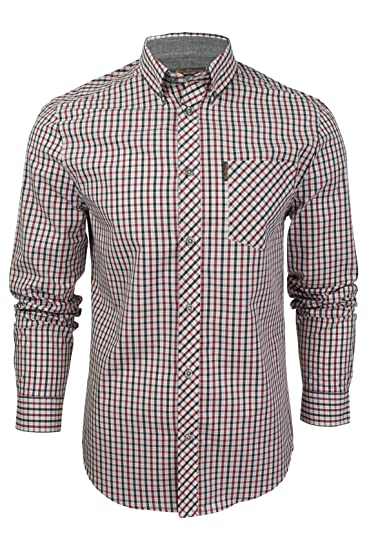 10fd3de889 Mens House Check Shirt by Ben Sherman Long Sleeved  Amazon.co.uk  Clothing