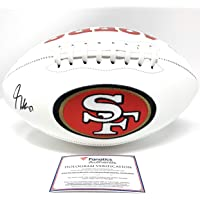 $125 » George Kittle San Francisco 49ers Signed Autograph Embroidered Logo Football Fanatics Certified