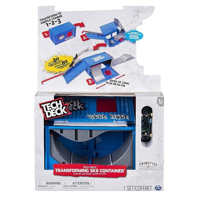 Tech Deck 61929877 Skate (Bizak 61929877 + Pack de 4 Skates realistas (Bizak 61923610), Surtido, 1 Unidad