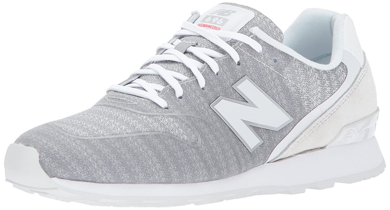 New Balance Women's 696 v1 Sneaker B01NA8VIM4 10 B(M) US White/Shockwave