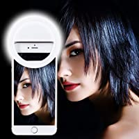 Meya Happy FL-36 Double Bright Soft White Color Selfie Ring Light with 3 Modes and 36 LED for Smartphones