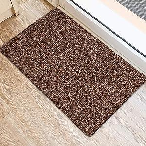 """BEAU JARDIN Indoor Super Absorbs Mud Doormat 36""""x24"""" Latex Backing Non Slip Door Mat for Front Door Inside Floor Dirt Trapper Mats Cotton Entrance Rug Shoes Scraper Machine Washable Rug Carpet"""