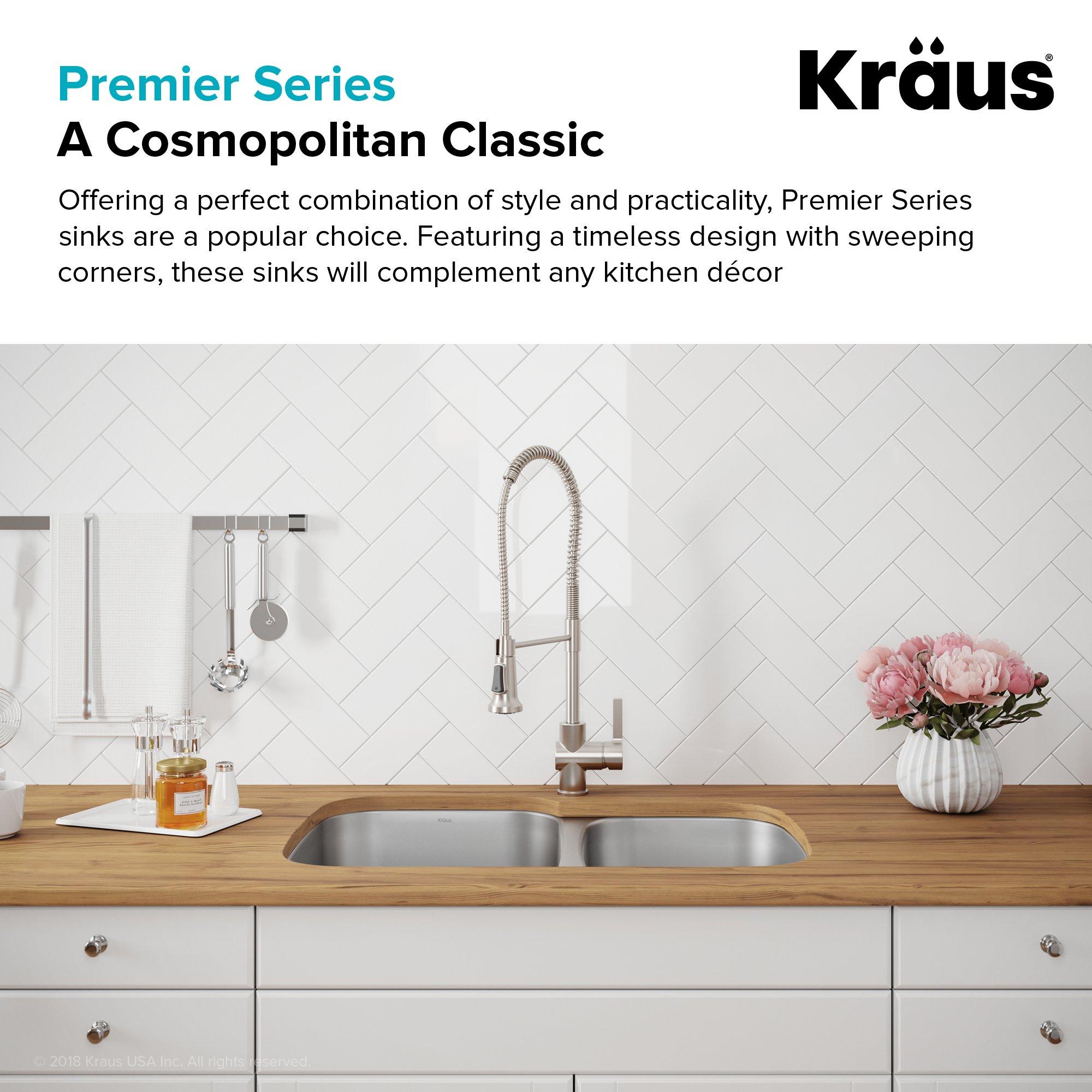 Kraus KBU21 30 inch Undermount 60/40 Double Bowl 16 gauge Stainless Steel Kitchen Sink by Kraus (Image #8)