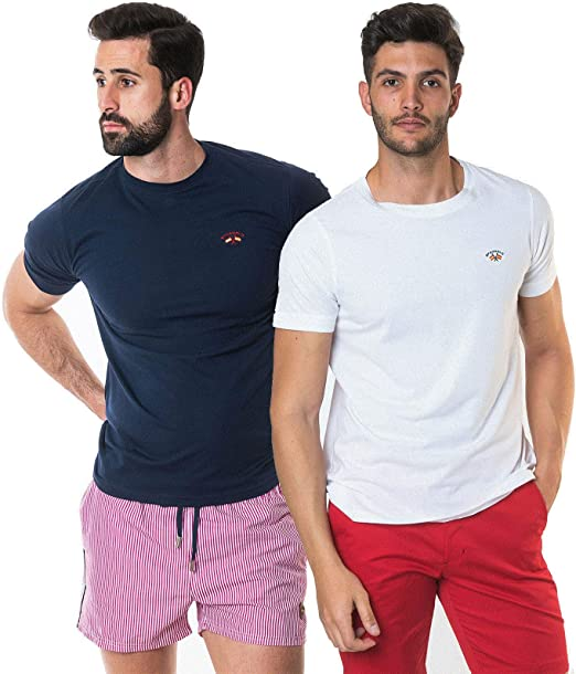 SPAGNOLO PAUL & ESTHER Pack 2 Camisetas Basicas 1305