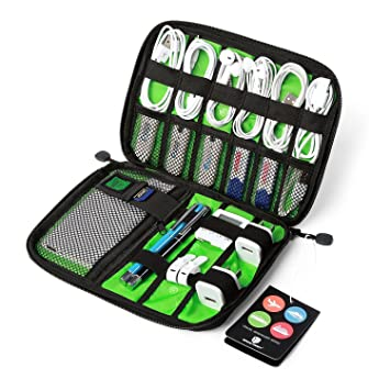 BAGSMART Organizador Electronica Bolsa Cables Viajes para Cables, Memorias USB,Powerbanks,Baterias,Tarjeta SD (Gris)