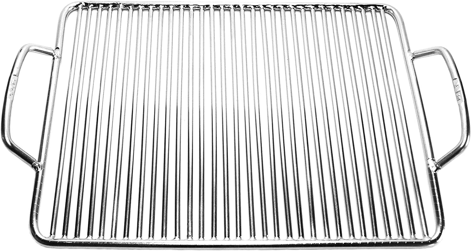 Grill factory - Square Stainless Steel BBQ Cooking Griller Grate 13.2 X 10.2 inch, Easy performer of Weber Go Anywhere chef Portable Campfire Smoker Grill Parts Accessory Outdoor Grill Cooker at Firepit grill grate