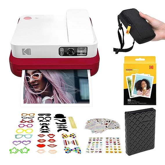 KODAK Smile Classic Cámara Digital instantánea con Bluetooth (Rojo ...