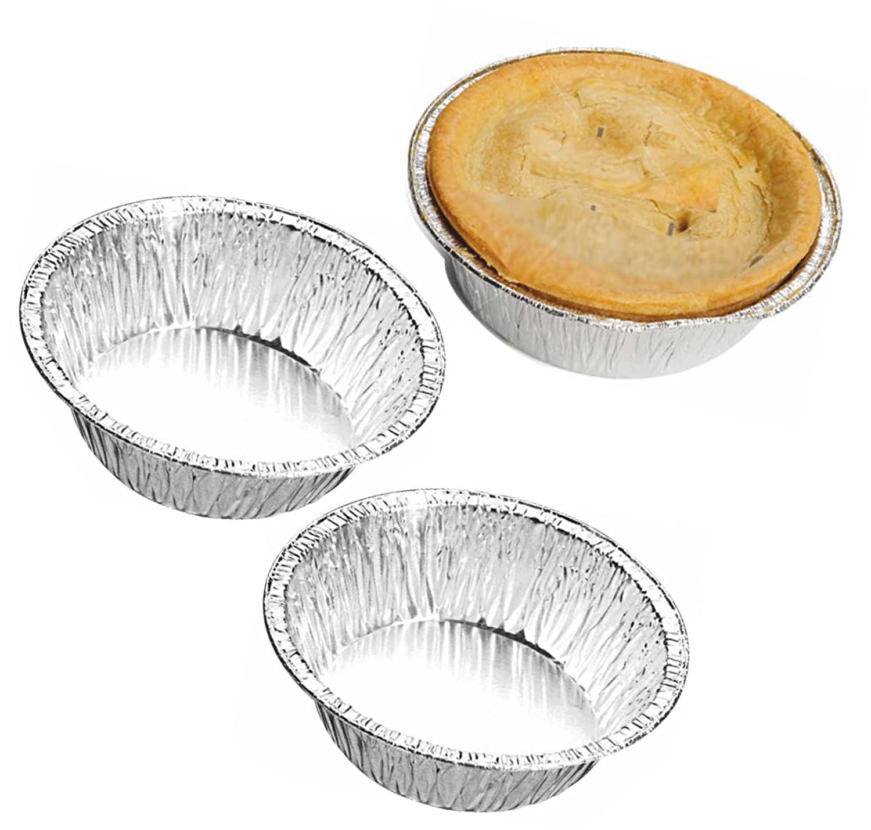 Aluminium Foil Container Round CH13F  110 mm x 33 mm  Pie Dishes Cases