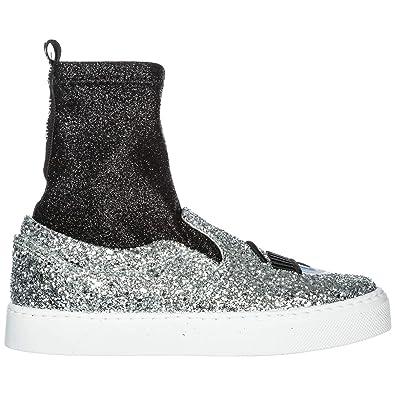 wholesale dealer 13613 fad7e Amazon.com   CHIARA FERRAGNI Women Flirting Sneakers Silver ...
