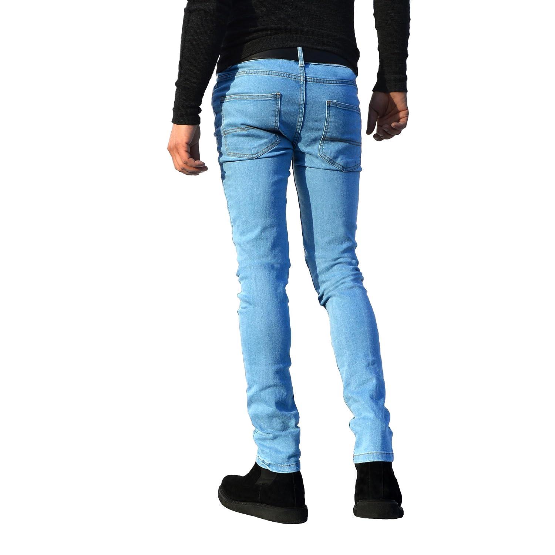 Pantalones vaqueros para hombre, ajustados, elásticos, pernera recta, de algodón, todos los tamaños de cintura disponibles