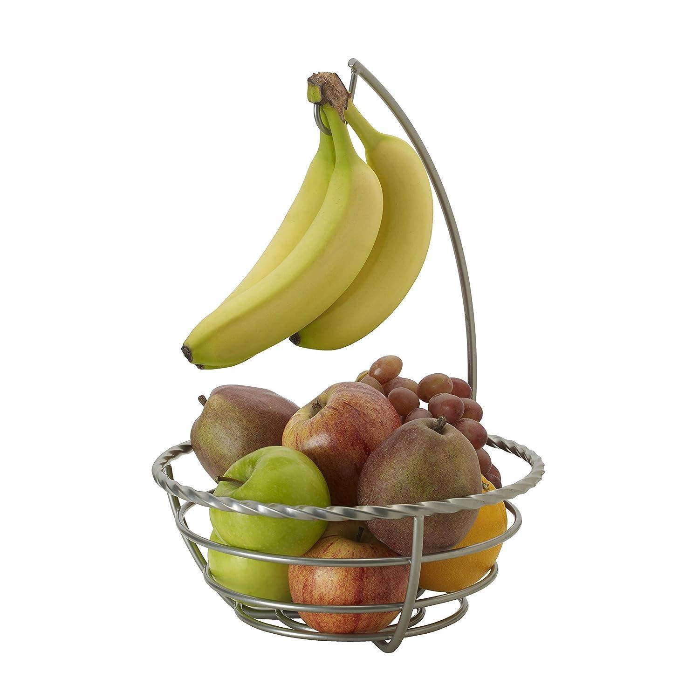 12-Inch Antique Black Pfaltzgraff Basics 5227653 Chit Chat Carbon Steel Countertop Fruit Basket