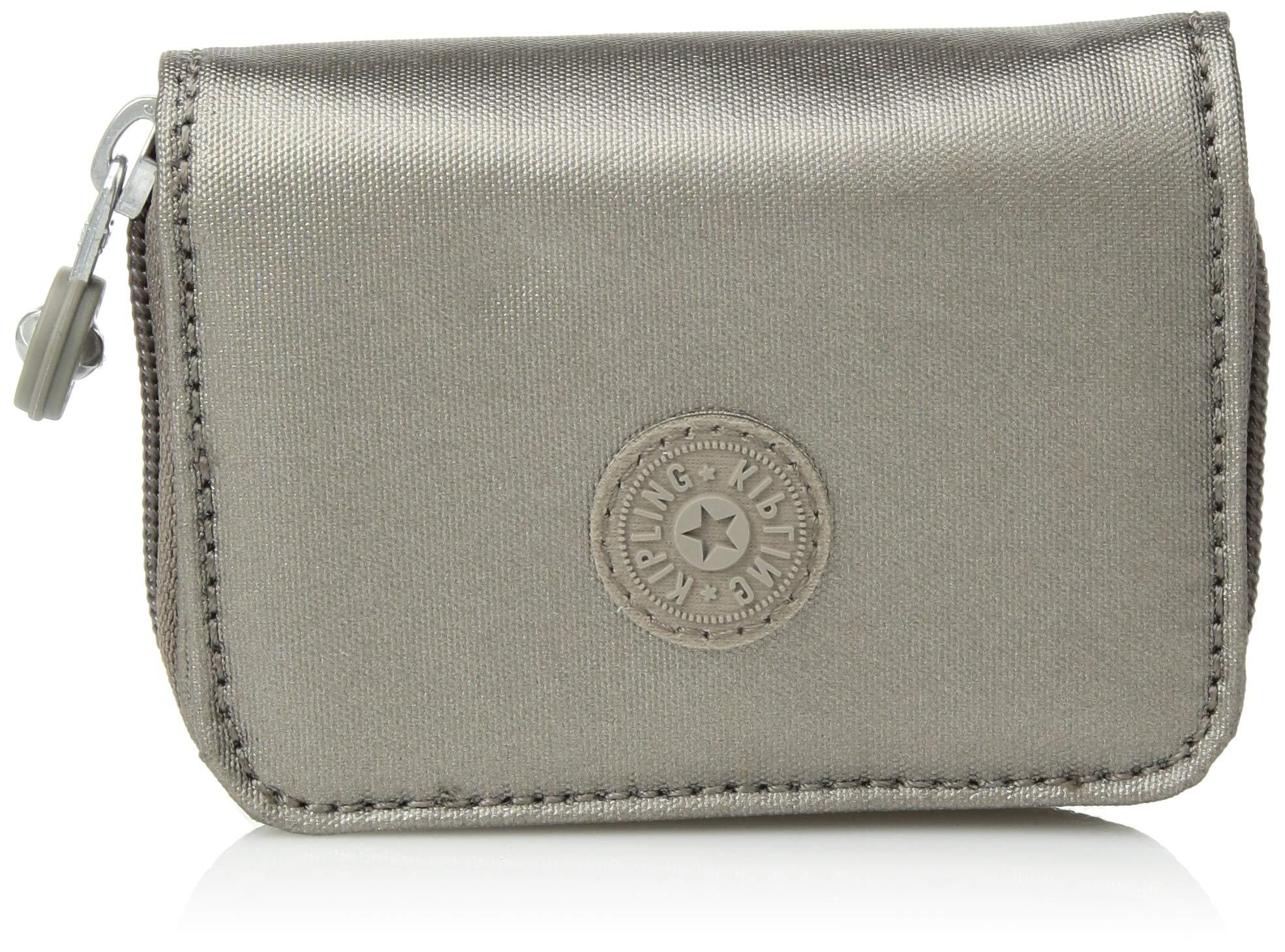 Kipling Tops Wallet, Metallic Pewter