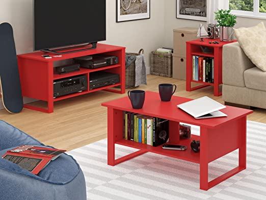 Amazon Altra Reese Coffee Table Ruby Red