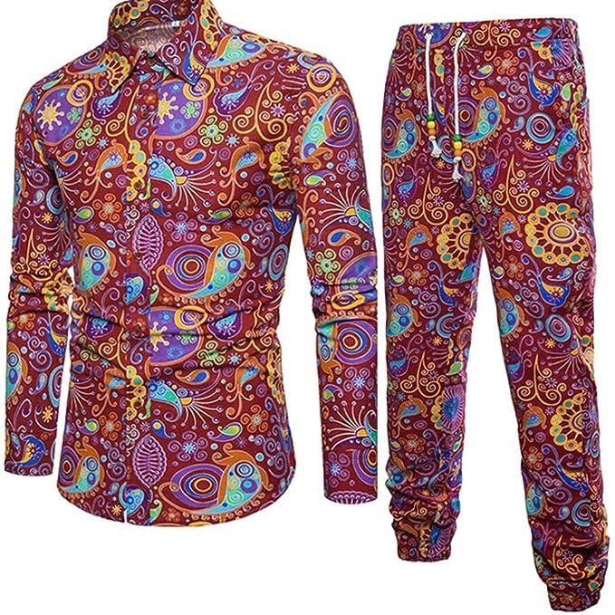 Mounter Camisa casual - Escotado por detrás - Animal Print - con botones - Manga corta - para hombre goxWDs8vb