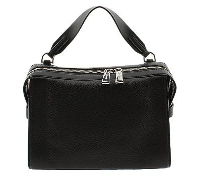 db355a233d6b8d Michael Kors Ingrid Medium Leather Shoulder Bag Black: Handbags ...