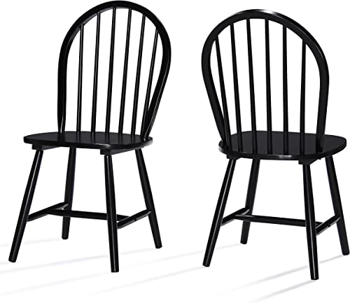 Christopher Knight Home 302241 Declan Farmhouse Cottage High Back Spindled Rubberwood Dining Chair