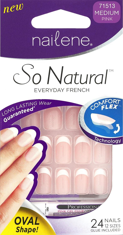 Nailene So Natural Nails Ovals Pink Pacific World Ltd 71513
