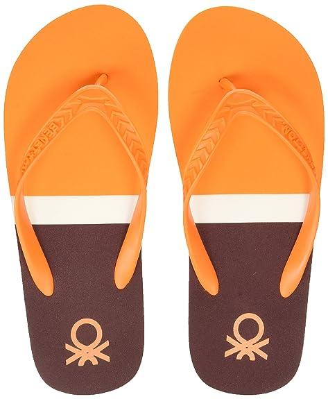 fe57e68ee492 United Colors of Benetton Men s 18P8CFFPM037I Orange Flip-Flops-10 UK India  (