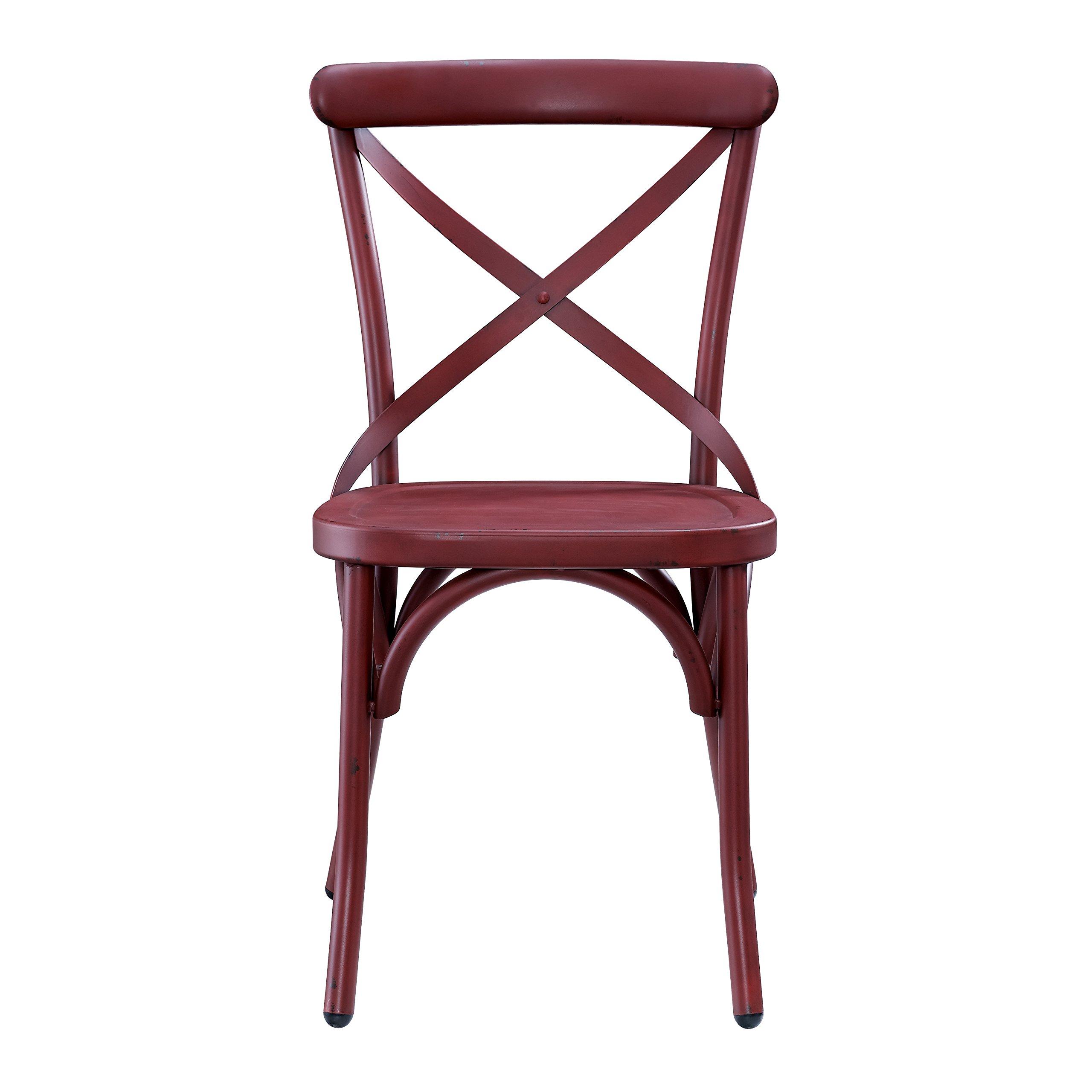 Pulaski DS-D069 Red Metal Dining (2/ctn) Chair, Brick