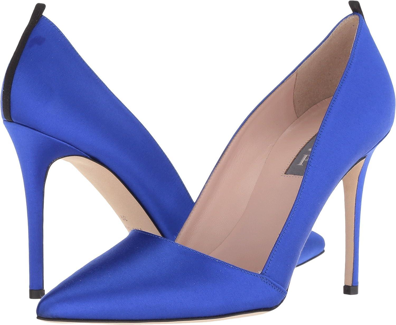 SJP by Sarah Jessica Parker Women's Rampling Dress Pump B079CNPZ3R 37.5 M EU|Expert Blue Satin