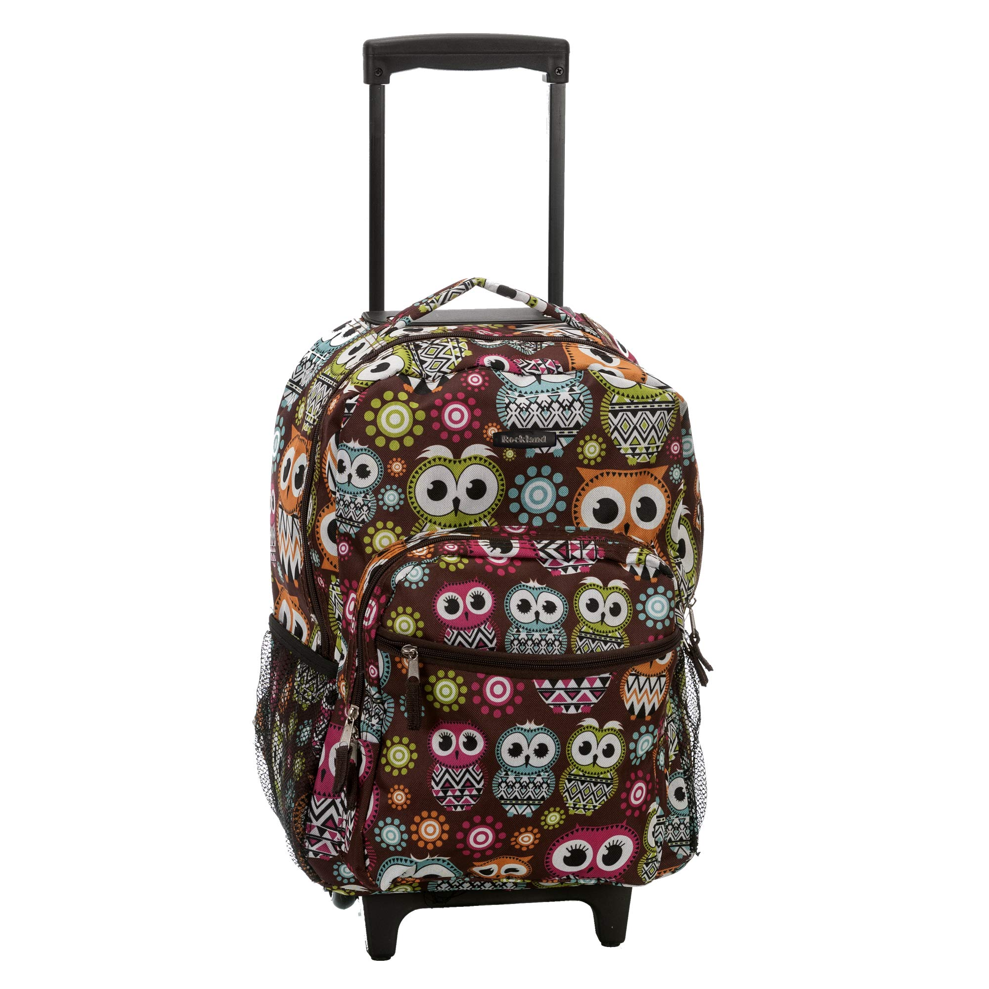 Rockland 17 Inch Rolling Backpack, Owl, One Size by Rockland