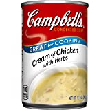 Campbell's Condensed Soup, Cream of Chicken with Herbs, 10.5 Ounce (Pack of 12)