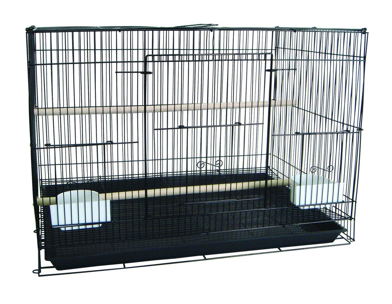 YML Medium Breeding Cage, 30 X 18 X 18-Inch, Black A2474BLK