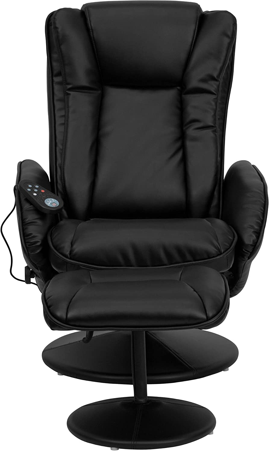 Flash Furniture Massage Leather Recliner with ottoman