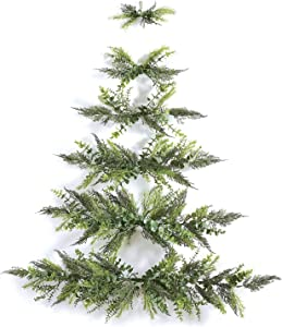 Mini Wall Hanging Christmas Tree Wall-Mounted Xmas Tree Space Christmas Decoration for Home Door Office Room Decor (Without Bells)