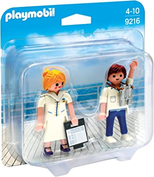 PLAYMOBIL Duo Pack-9216 Azafata y Piloto, Multicolor, única (9216 ...