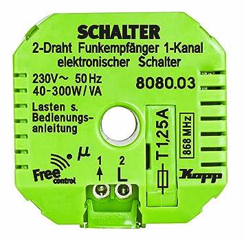 Funk-Empfänger Free-control 1 Kanal/Triac/2 Draht Neue Generation ...