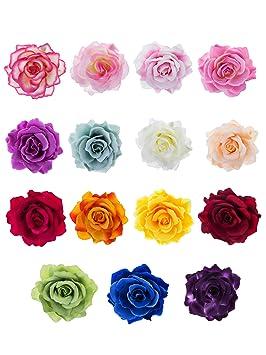 top design acheter meilleures offres sur 15 Pièces Pince à Cheveux Fleur Clip de Fleurs Roses Pin Up Broche Fleur
