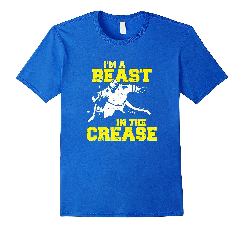 Funny Ice Hockey Goalie T Shirt I M A Beast In The Crease Fl