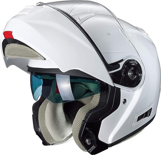 Nexo Klapphelm Motorradhelm Helm Motorrad Mopedhelm Klapphelm Comfort Damen Komfortabler Vollvisierhelm Für Damen 1 550 G Kratzfestes Visier Belüftung Ratschenverschluss Weiß Xs M Bekleidung