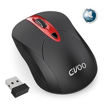 Ratón inalámbrico, gvoo 2,4 G Slim Silencioso USB PC Ordenador portátil ratón inalámbrico