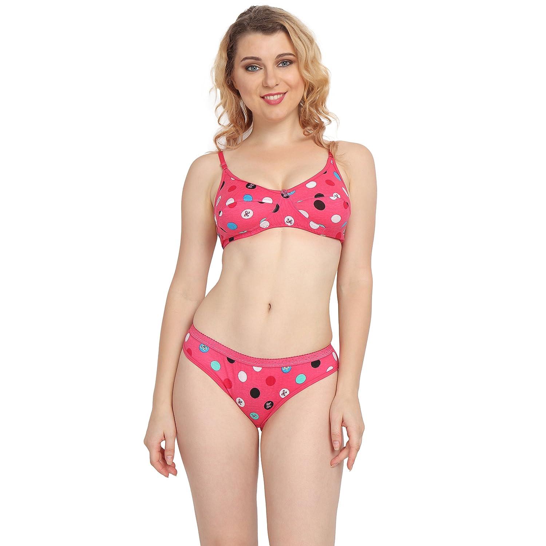 Effectinn Women s Pink Lingerie Set (AASB11015BIS2)  Amazon.in  Clothing    Accessories 5754dd2b5c