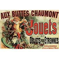 Aux Buttes Chaumont Jouets Jules Cheret Art Print Poster 36x24 inch