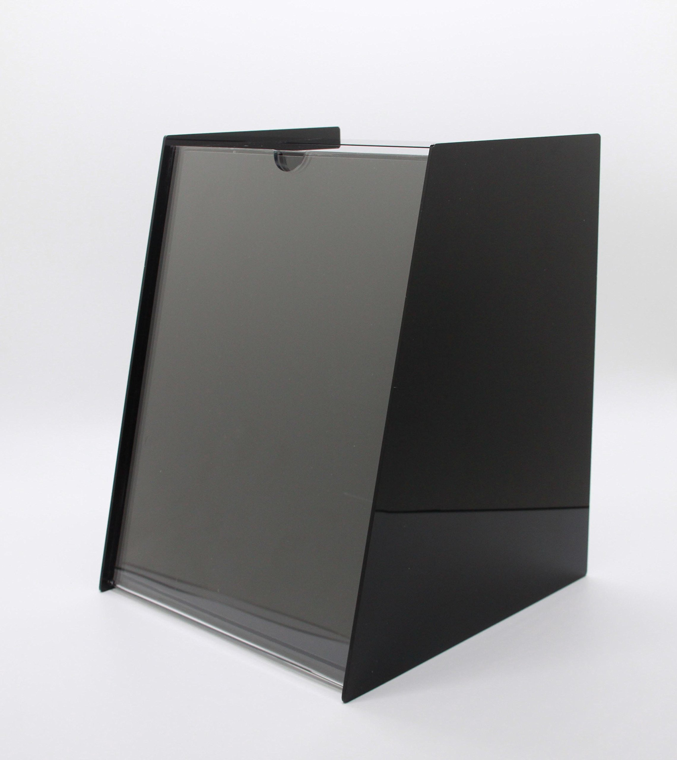 Fixture Display 8.8''x11.0''x9.0'' Acrylic Ballot Box with 8.5 x 11 Sign Holder Pen-Black 19228 by FixtureDisplays