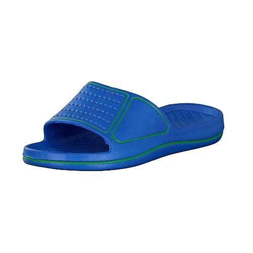 qualité de la marque vraie qualité Promotion de ventes Brandsseller Sandales de Bain Femme  Chaussures de Piscine et Plage  Claquette pour Femme  Couleurs: Pink/Turquoise, Bleu/Vert, Jaune/Vert   Pointures: ...