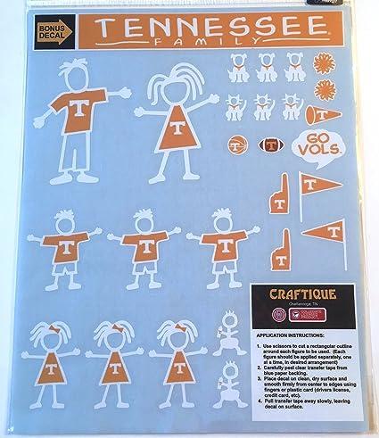Tennessee Volunteers New Design Multi Die Cut Magnet Sheet Auto Home University Of