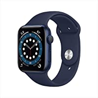 New Apple Watch Series 6 (GPS, 44mm) - Blue Aluminum Case with Deep Navy Sport Band