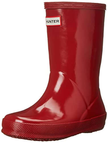 Kids' Clothing, Shoes & Accs Boys Girls Hunter First Classic Kids Rain Boots Black Shiny New Clothing, Shoes & Accessories